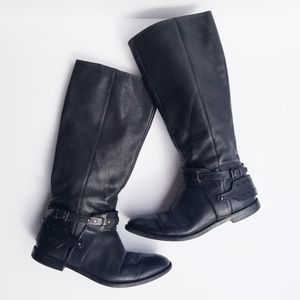 Nine West Luciana Black Moto Boot 8M